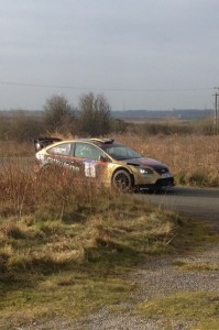 Paul Bird on his way to victory on the North West Stages