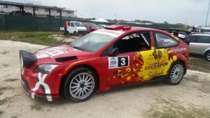 Paul Bird's Focus WRC had a new livery for Rally Barbados